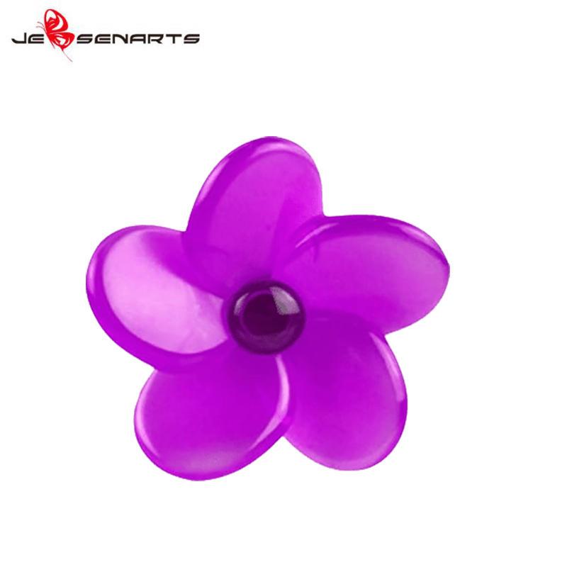 Plastic Flower shape vent clip scented car perfume holder vehicle air freshener V09