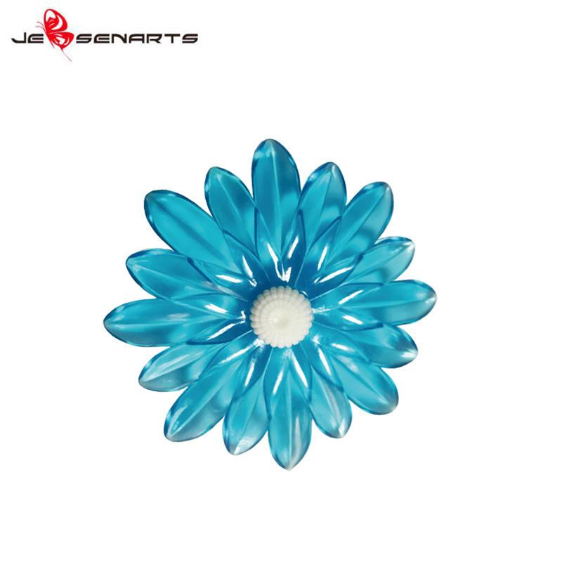 Custom brands car air freshener clip oem fragrance Plastic  daisy flower car vent perfume holder V10