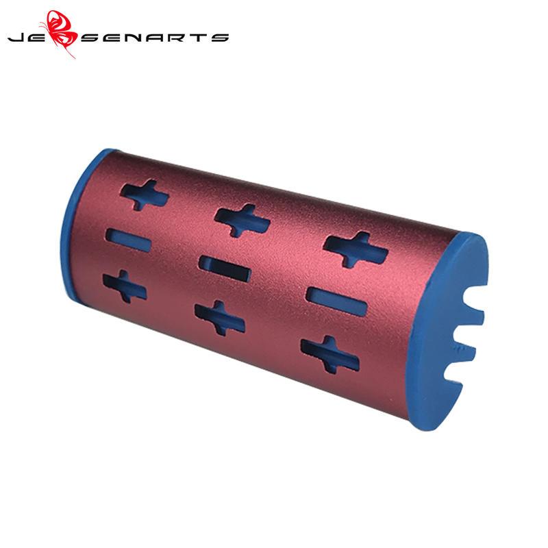 Wholesale plastic aroma car air freshener vent clip for air conditioner metal car perfume logo V06