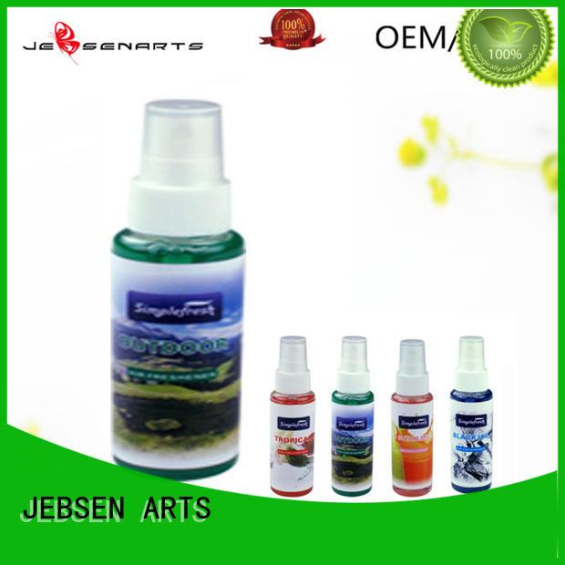 JEBSEN ARTS Brand card car initial car perfume spray sanis
